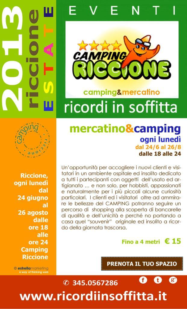 Volantino Camping Riccione 2013